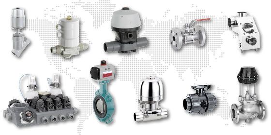 Range of GEMÜ Valves